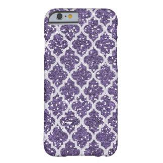 Falsa caja púrpura del iPhone 6/6s del brillo Funda Para iPhone 6 Barely There