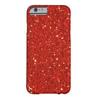 Falsa caja roja del iPhone 6 del brillo Funda De iPhone 6 Barely There