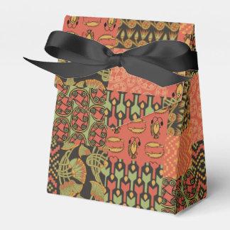 Falsa caja tribal egipcia del favor de la tienda cajas para detalles de boda