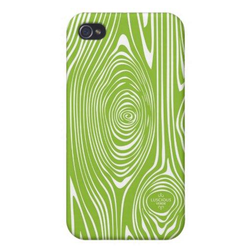 Falsa caja verde y blanca del iPhone de Bois iPhone 4/4S Funda