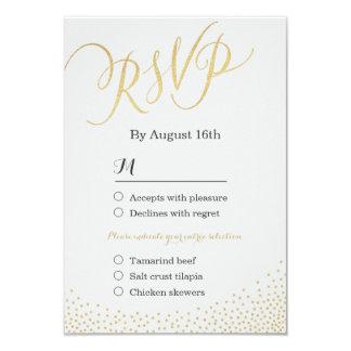 """Falsa caligrafía atractiva Editable RSVP del Invitación 3.5"""" X 5"""""""