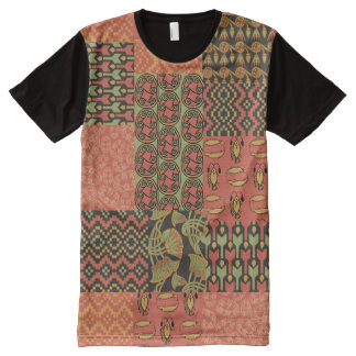 Falsa camiseta tribal egipcia del panel del