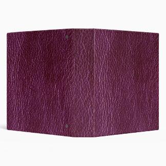 Falsa carpeta de Avery del cuero del ciruelo