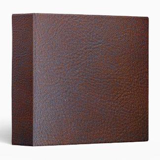 Falsa carpeta de Avery del cuero marrón oscuro