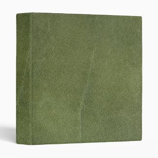 falsa carpeta del cuero del verde de botella
