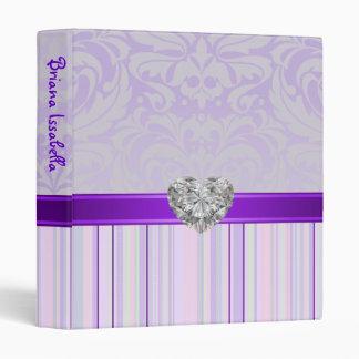 Falsa carpeta imaginaria púrpura del álbum del beb