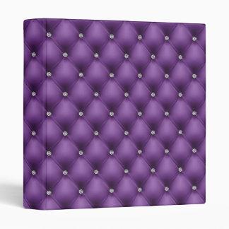 FALSA carpeta púrpura de cuero lujosa del diamante