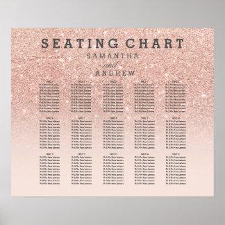 Falsa carta del asiento del ombre del rosa del póster