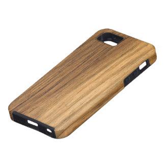 Falsa casamata de madera acabada del iPhone 5 del iPhone 5 Fundas
