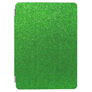 Falsa chispa del fondo del brillo de la verde lima cover de iPad air