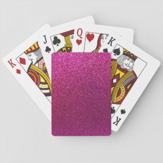 Falsa chispa del fondo del brillo de las rosas cartas de juego