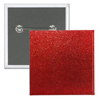 Falsa chispa roja del fondo del brillo de Borgoña Pin Cuadrada 5 Cm