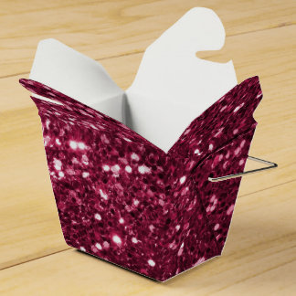 Falsa chispa rosada magenta fabulosa del brillo cajas para regalos de boda