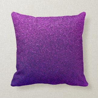 Falsa chispa violeta púrpura del fondo del brillo cojines