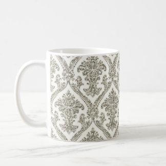 Falsa cocina de plata del estampado de flores del taza clásica