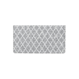 falsa cubierta de plata del talonario de cheques funda para chequera