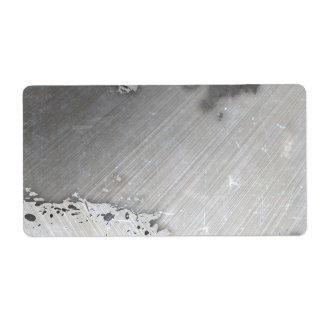Falsa) disposición cepillada gastada del metal ( etiqueta de envío