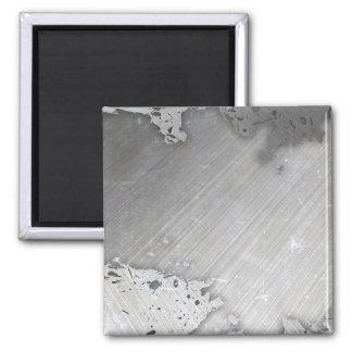 Falsa) disposición cepillada gastada del metal ( imán cuadrado