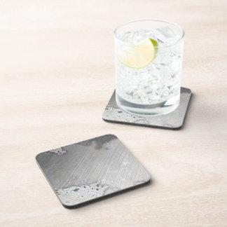 Falsa) disposición cepillada gastada del metal ( posavasos de bebida