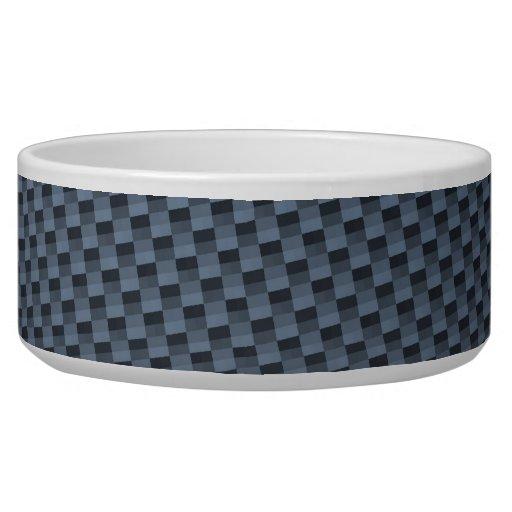 Falsa fibra de carbono azul modelada tazón para perro