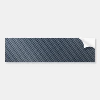 Falsa fibra de carbono azul modelada pegatina para auto