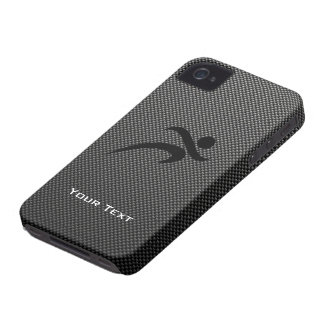 Falsa fibra de carbono Funcionamiento iPhone 4 Case-Mate Protectores