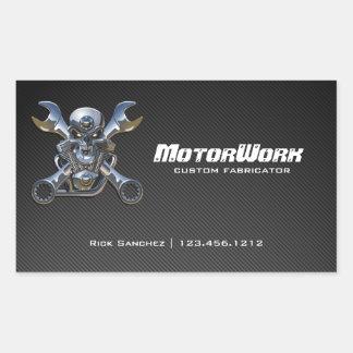 Falsa fibra de carbono Motorworks Pegatina Rectangular