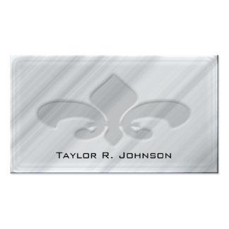 Falsa flor de lis de mármol gris tarjetas de visita