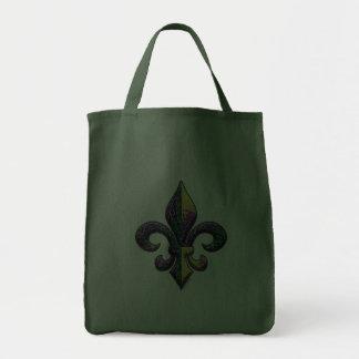 Falsa flor de lis moldeada bolsa tela para la compra