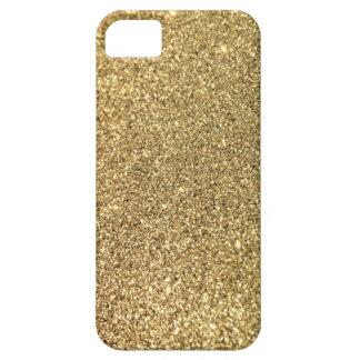 Falsa foto del brillo del oro iPhone 5 fundas