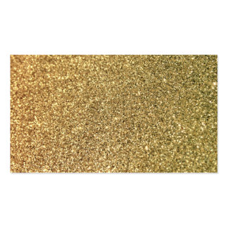 Falsa foto del brillo del oro tarjetas de visita