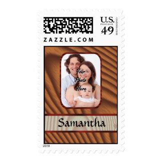 Falsa foto personalizada de madera sellos