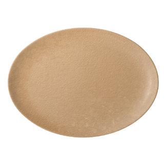 Falsa hoja de bronce badeja de porcelana