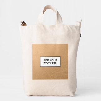 Falsa hoja de bronce bolsa de lona duck