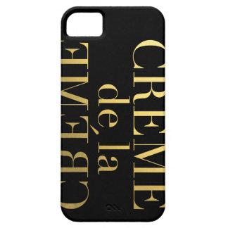 Falsa hoja de oro Creme De La Creme Black iPhone 5 Fundas