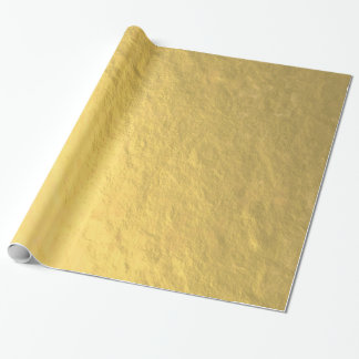 Falsa hoja de oro impresa papel de regalo