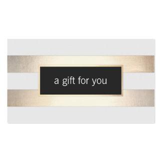 Falsa hoja de oro y tarjeta de regalo al por menor tarjetas de visita