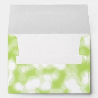 Falsa hoja del confeti verde del brillo sobres