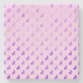 Falsa hoja del fondo en colores pastel púrpura del posavasos de piedra