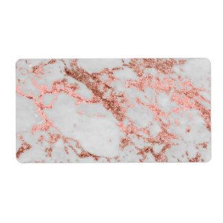 Falsa imagen color de rosa moderna de la textura etiqueta de envío