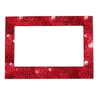 Falsa imagen roja del modelo de la lentejuela marcos magneticos de fotos