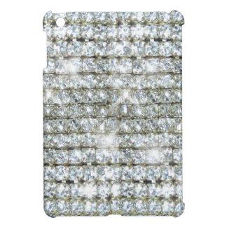 Falsa impresión del diamante de Bling iPad Mini Protectores