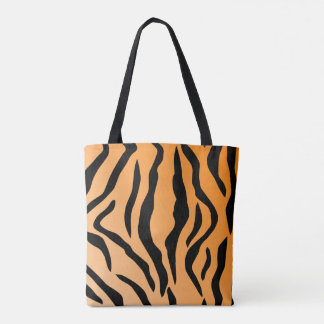 Falsa impresión del tigre bolsa de tela