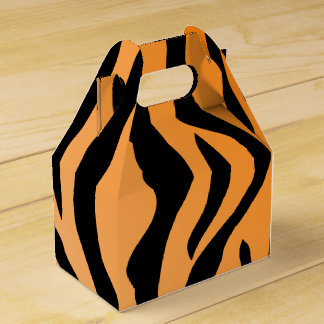 Falsa impresión del tigre cajas para detalles de boda