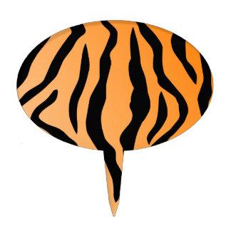 Falsa impresión del tigre decoraciones para tartas