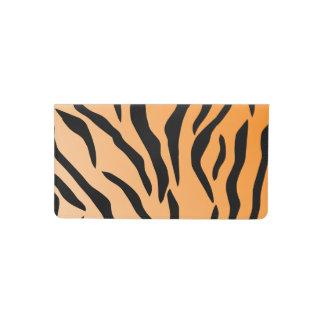 Falsa impresión del tigre funda para chequera