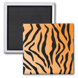 Falsa impresión del tigre imán cuadrado