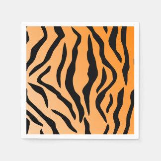 Falsa impresión del tigre servilletas desechables
