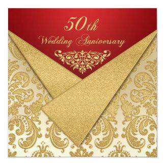 FALSA invitación del aniversario del damasco 50.o