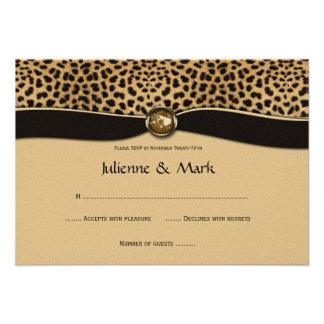FALSA joya RSVP de la cinta del estampado leopardo Invitacion Personalizada